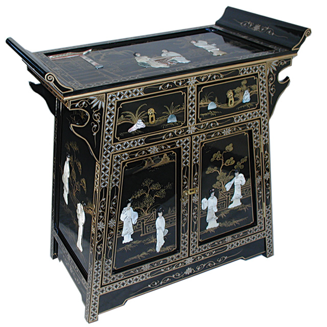 Lacquer 39 a 39 line cabinet for Chinese black lacquer furniture