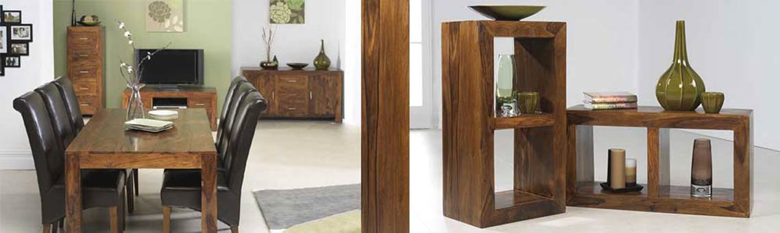 solid sheesham hardwood sideboard cube 1