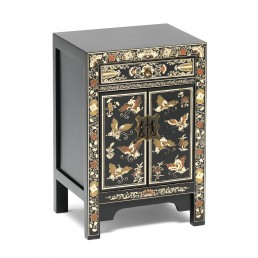 Chinese Decorated Black Cabinet