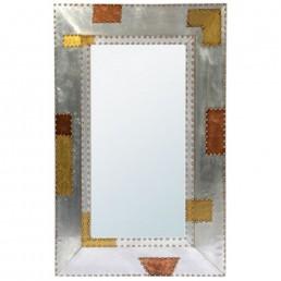 Aluminium Copper Wall Mirror Tall