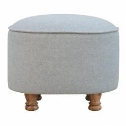 Artisan Grey Oval Footstool