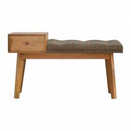Artisan Tweed Wooden Bench