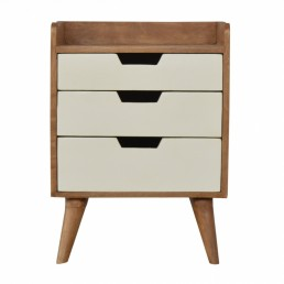 Artisan 3 Drawer Bedside