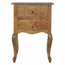 Artisan French 2 Drawer Bedside