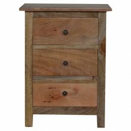 Artisan 3 Drawer Bedside Table
