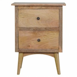 Artisan 2 Drawer Bedside Table