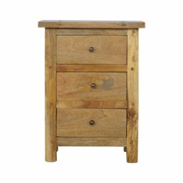 Artisan Country 3 Drawer Bedside
