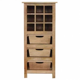 Artisan 3 Drawer Wine Cabinet
