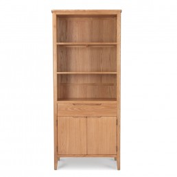 Björn Oak Tall Bookcase