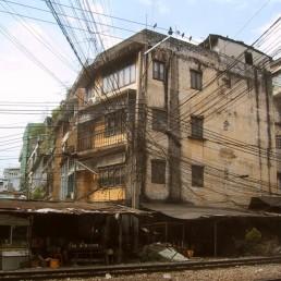 Canvas Bangkok Slum 6 Print