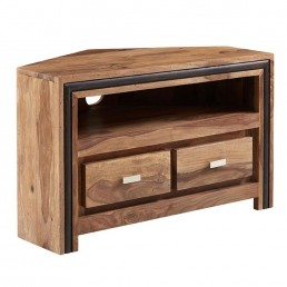 Castalla Sheesham Corner TV Unit
