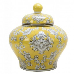 Chinese Squat Jar in yellow