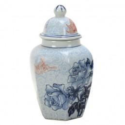 Chinese Hexagonal Rose Jar