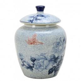 Chinese Round Rose Jar