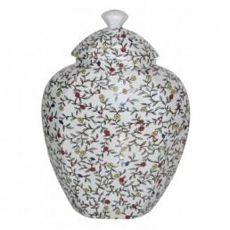 Chinese White Leafy Jar
