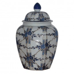 Chinese Floral Rosette Jar