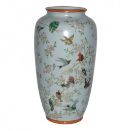 Chinese Birds Tall Vase