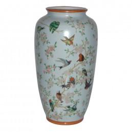 Chinese Birds Tall Vase