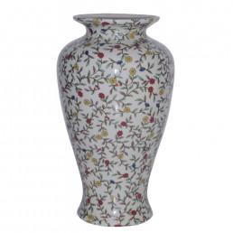 Chinese White Leafy Vase
