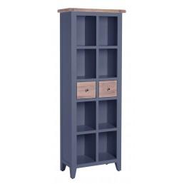 Chalk Downpipe Oak Bookcase