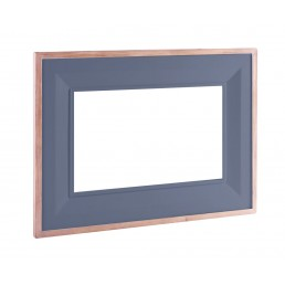 Chalk Downpipe Oak Mirror