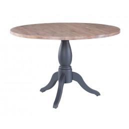 Chalk Downpipe Oak Pedestal Table