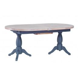 Chalk Downpipe Oak Dining Table