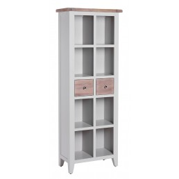 Chalk Grey Oak Bookcase