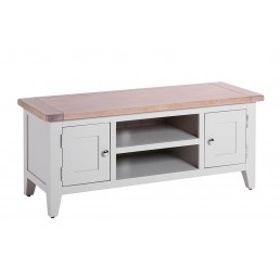 Chalk Grey Oak TV Unit