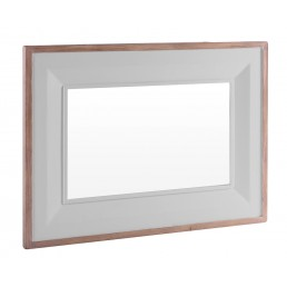 Chalk Grey Oak Mirror