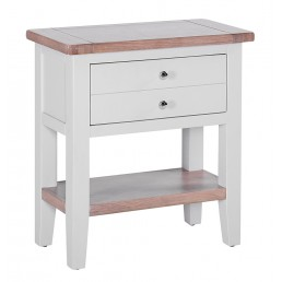 Chalk Grey Oak Console Table
