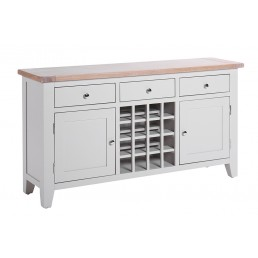 Chalk Grey Oak Wine Table