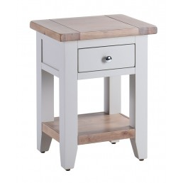 Chalk Grey Oak Bedside Table