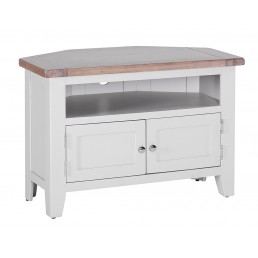 Chalk Grey Oak Corner TV Unit