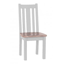 Chalk Grey Oak Dining Chair
