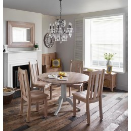 Chalk Grey Oak Dining Set