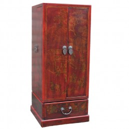 Chinese Leatherette CD Cabinet