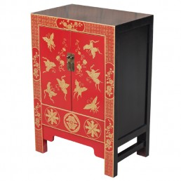 Chinese Butterflies Red Cabinet