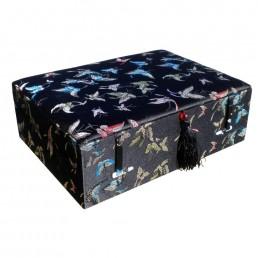 Black Butterfly Brocade Box
