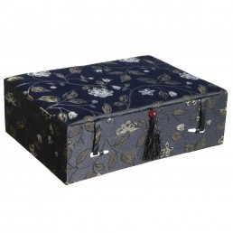 Large Black Floral Box