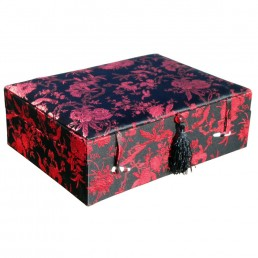 Large Red and Black Floral Box
