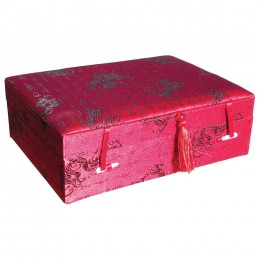 Red Dragon Brocade Box