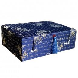 Blue Dragon Brocade Box