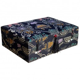 Black Longevity Brocade Box