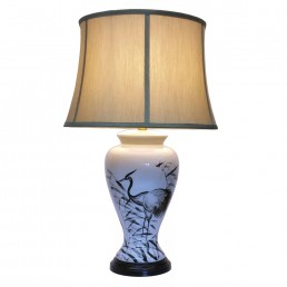 Chinese Table Lamps Heron (Pair)