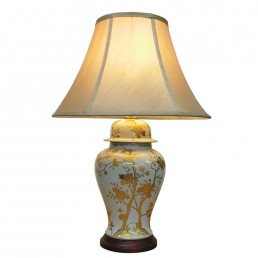 Chinese Table Lamps Golden (Pair)