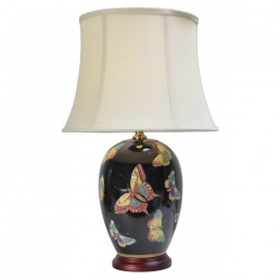 Chinese Table Lamps Black (Pair)
