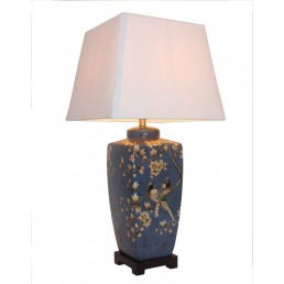 Chinese Table Lamp Square (Pair)