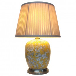 Chinese Table Lamp Melon Jar (Pair)