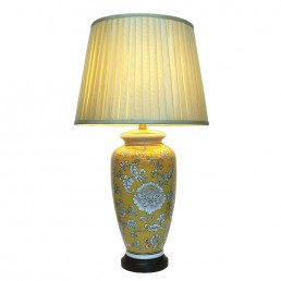 Chinese Table Lamp Melon (Pair)